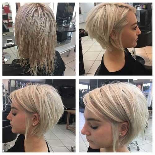 Modern-Blonde-Hair Best Short Fine Hairstyles Women 2019