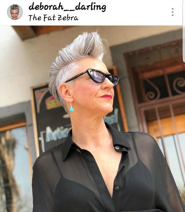 Mohawk-Pixie-for-Older-Women Best Short Hairstyles for Older Women in 2019