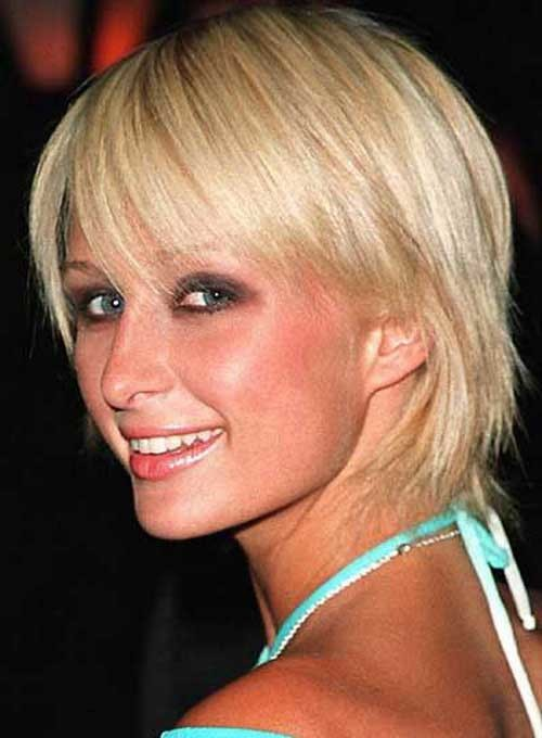 Paris-Hilton-Short-Haircut-for-Thin-Straight-Hair Short Straight Hairstyles for Fine Hair