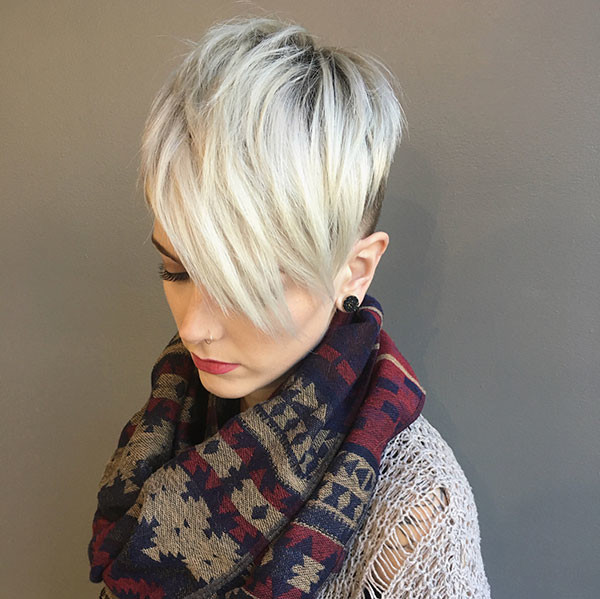 Pixie-Cut-with-Long-Bangs New Pixie Haircut Ideas in 2019