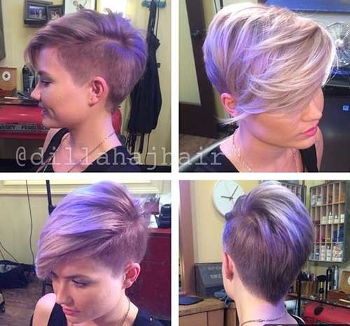 Pixie-Hair-with-Shaved-Sides Attractive Pixie Haircuts for Beautiful Women