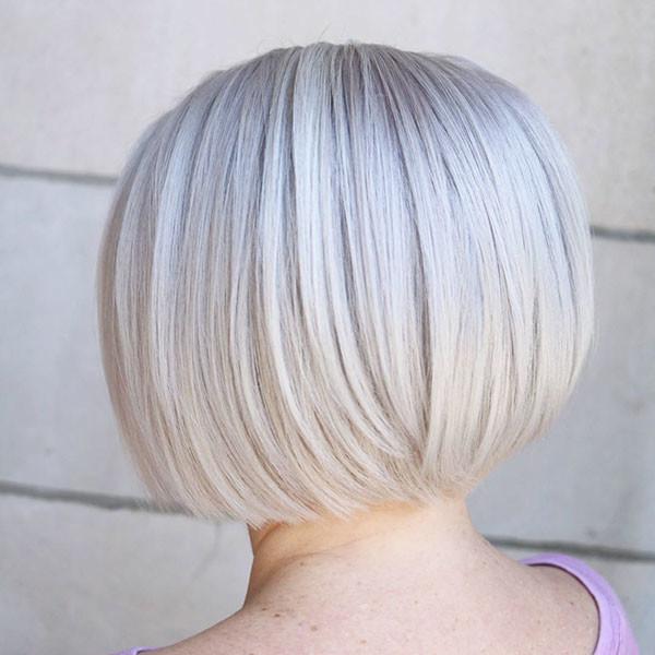 Platinum-Blonde-Short-Bob-Hair Popular Bob Hairstyles 2019