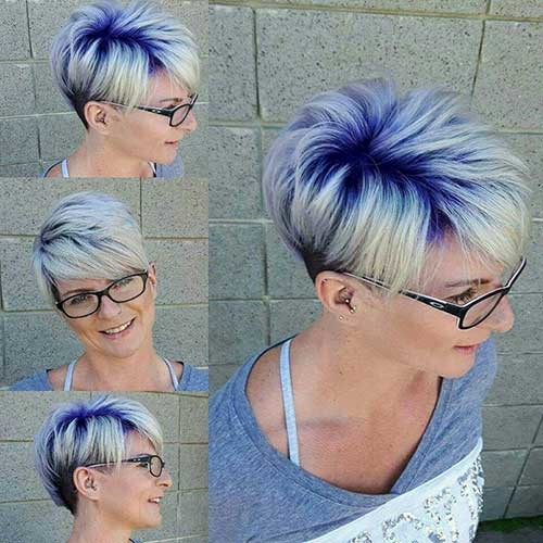 Rainbow-Roots Attractive Pixie Haircuts for Beautiful Women