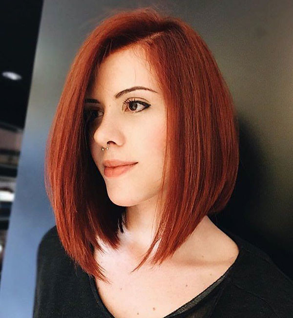 Red-Bob-Hair-Color Popular Bob Hairstyles 2019