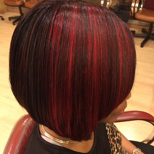 Red-Lights Best Bob Hairstyles for Black Women Pictures in 2019