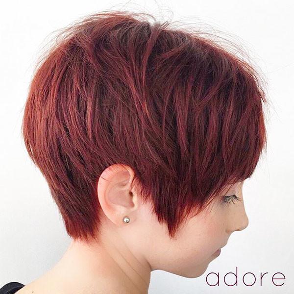 Red-Pixie-Cut New Pixie Haircut Ideas in 2019