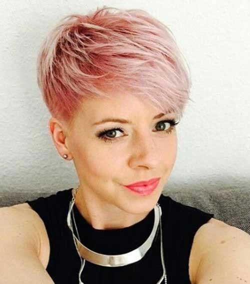 Rose-Gold New Short Haircut Trends Women 2019