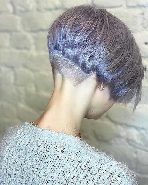 Shaved-Nape Pixie Bob Haircuts for Neat Look