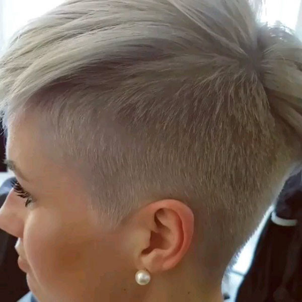 Shaved-Side-Pixie New Short Blonde Hairstyles