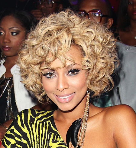 Short-Blonde-Curls Keri Hilson Short Hairstyles