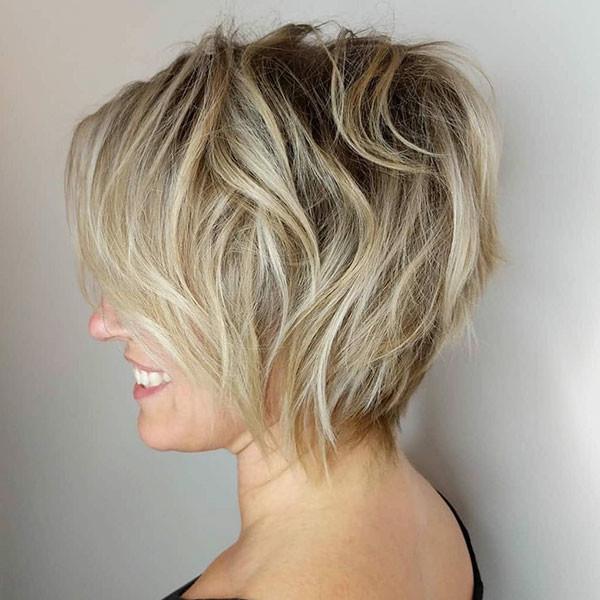 Short-Textured-Hair New Short Blonde Hairstyles