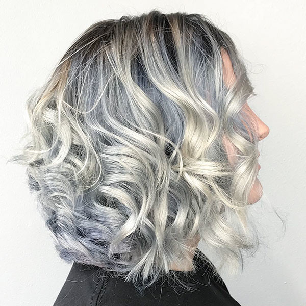 Short-Wavy-Curly-Grey-Hair Best Short Curly Hair Ideas in 2019