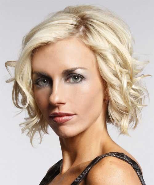 Short-blonde-wavy-hair Short Haircuts for Wavy Hair
