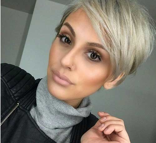 Side-Bangs-Pixie Attractive Pixie Haircuts for Beautiful Women