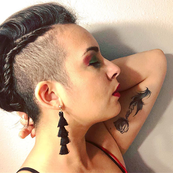 Side-Braid-for-Shaved-Pixie Amazing Braids for Short Hair