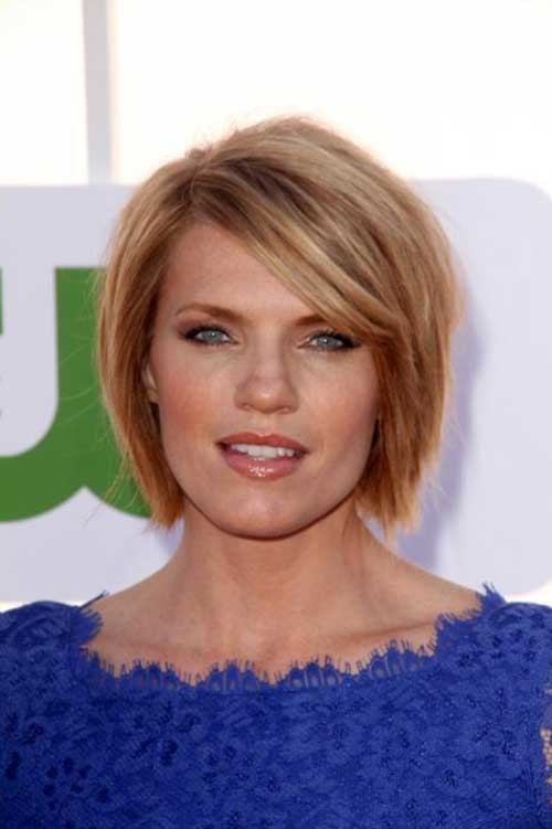 Side-Swept-Hairstyle-for-Short-Straight-Fine-Choppy-Hair Short Straight Hairstyles for Fine Hair