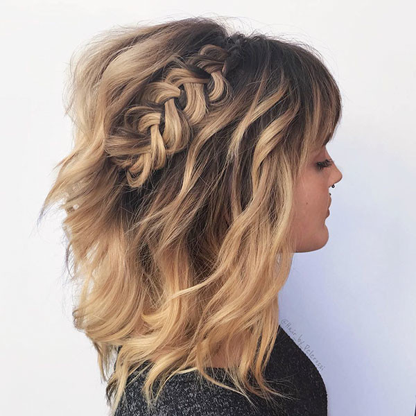 Simple-Fishtail-Braid Amazing Braids for Short Hair
