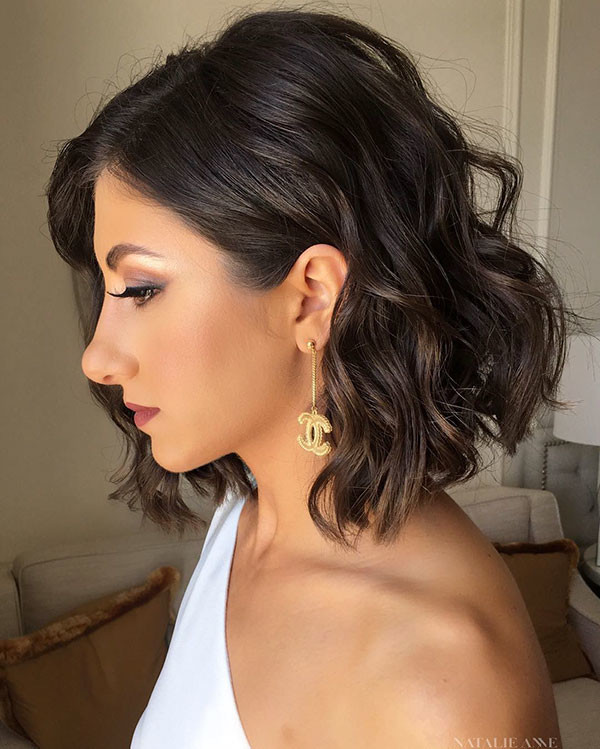 Soft-Curls Wedding Hairstyles for Short Hair 2019