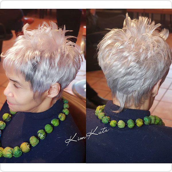 Spiky-Haircut Best Short Hairstyles for Older Women in 2019