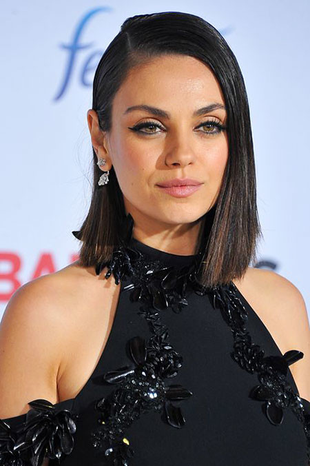 Straight-Hair Short Haircuts for Women with Round Faces