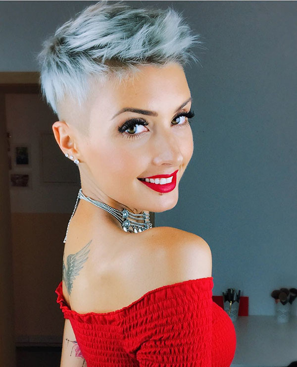 Undercut-Pixie New Pixie Haircut Ideas in 2019