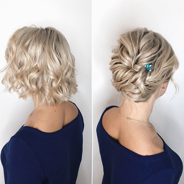 Wedding Hairstyles For Short Hair 2019