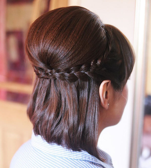 Wedding-Guest-Hairstyle Amazing Braids for Short Hair