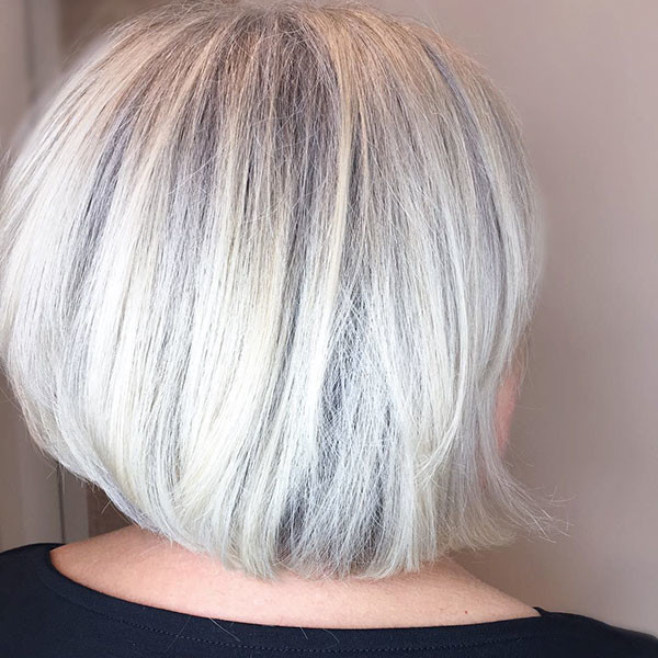 White-Blonde New Best Short Haircuts for Women