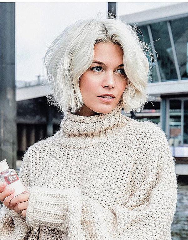 White-Short-Hair-for-Cute-Girls New Cute Short Hairstyles