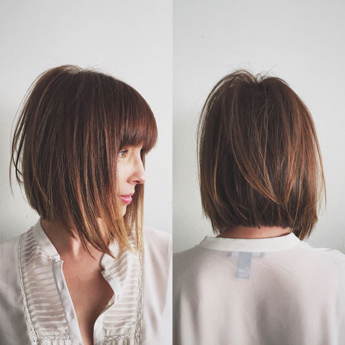 14-short-layered-cuts-with-bangs Best Short Layered Bob With Bangs