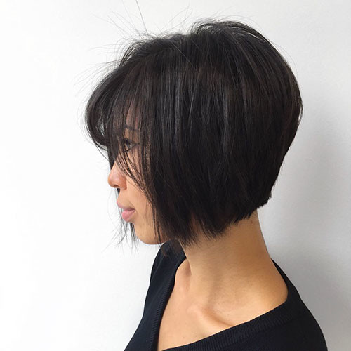 19-short-layered-hair-with-bangs Best Short Layered Bob With Bangs