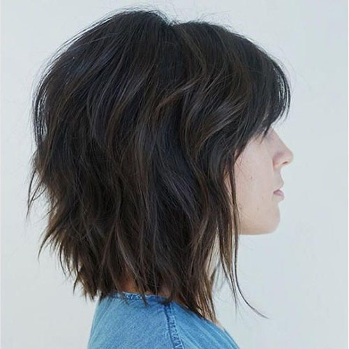 34-short-layered-bob-haircuts-with-bangs Best Short Layered Bob With Bangs