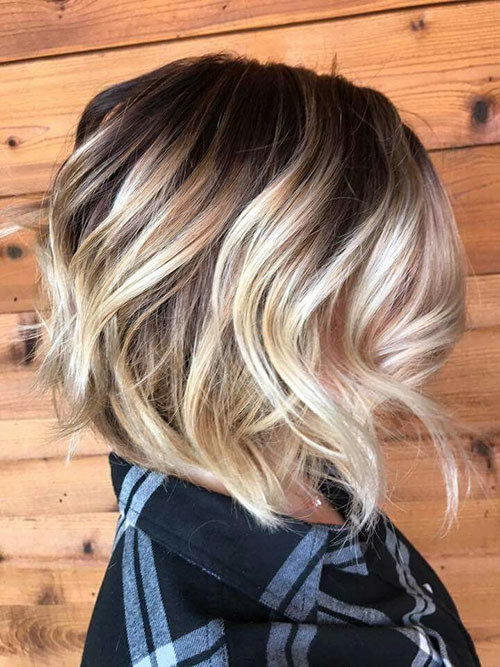 47-short-brown-hair-with-blonde-highlights Beautiful Brown to Blonde Ombre Short Hair