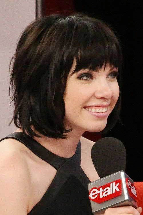 50-short-layered-hair-with-bangs Best Short Layered Bob With Bangs