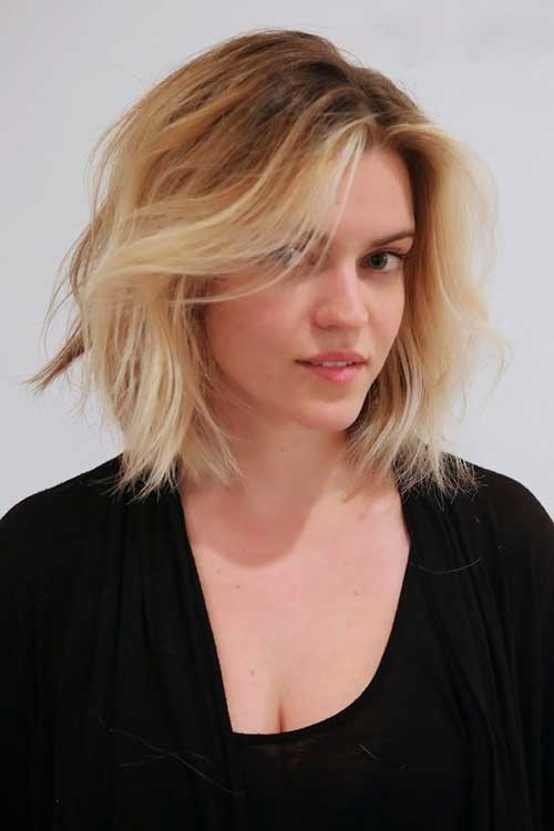 Blonde-Bob-Hairstyle-with-Ombre Beautiful Ombre Bob Hairstyles