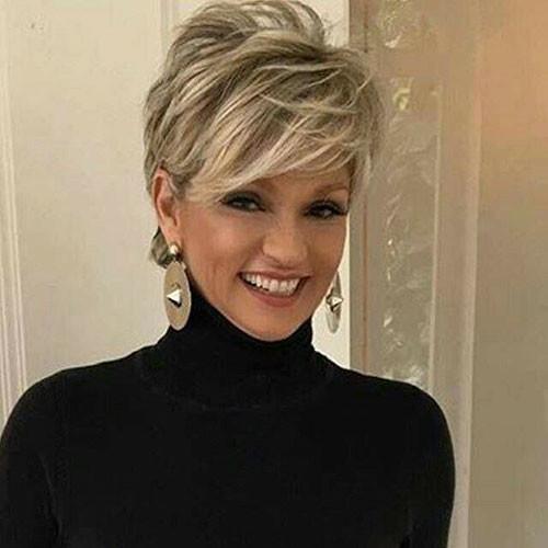 Blonde-Hair-2 Beautiful Pixie Cuts for Older Women 2019