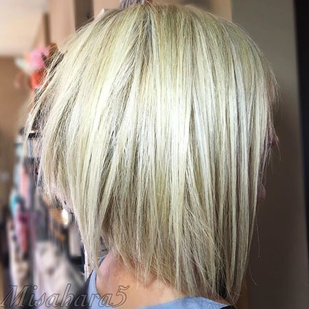 Blonde-Razor-Cut New Bob Hairstyles 2019