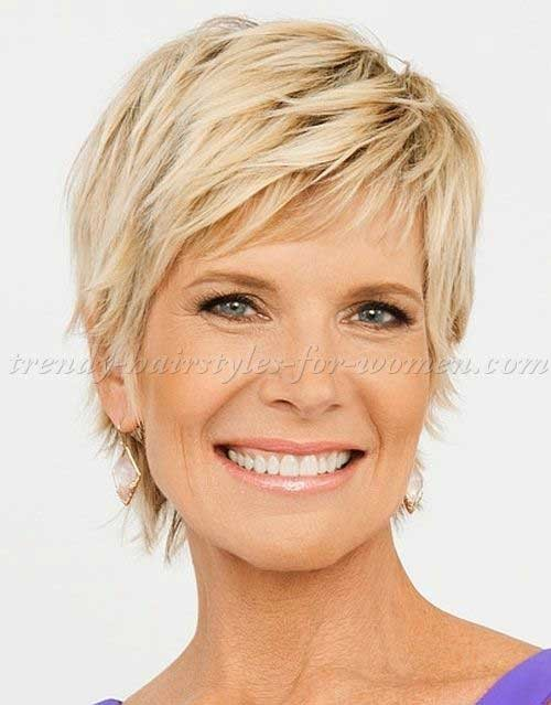 Blonde-Short-Haircut-Over-50 Short Haircuts For Over 50