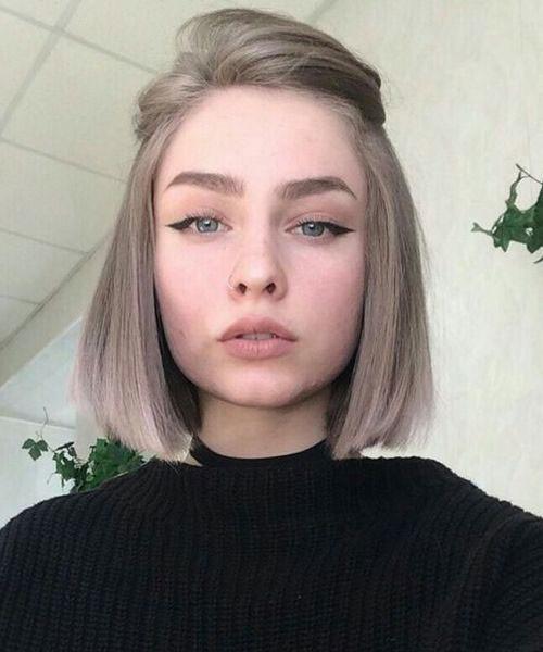 Blunt-Cut Latest Short Haircuts for Women 2019