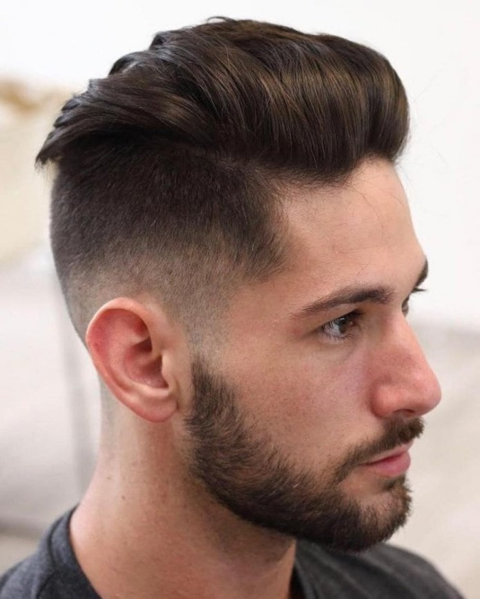 Brushed-Back-Taper-Fade Stylish Undercut Hairstyle Variations in 2019: A Complete Guide