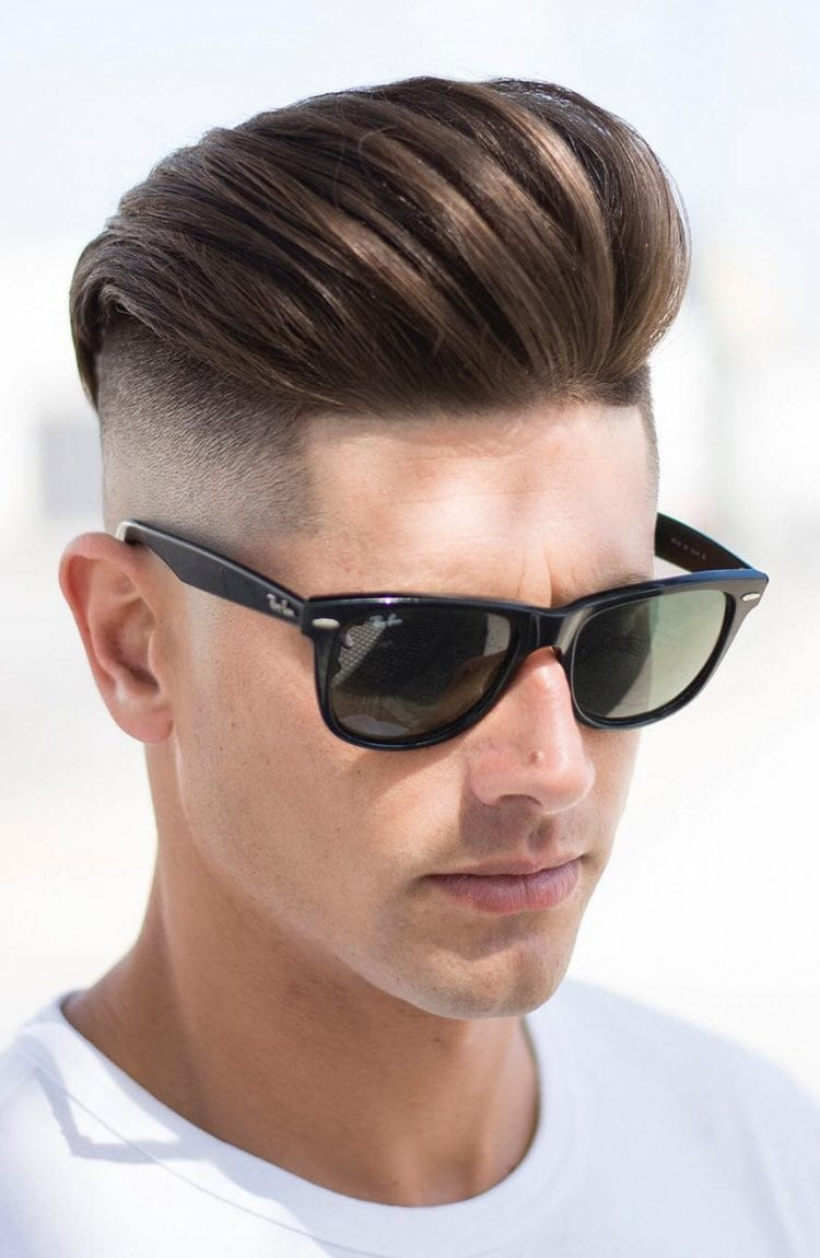 Brushed-Back-with-Long-Top Stylish Undercut Hairstyle Variations in 2019: A Complete Guide