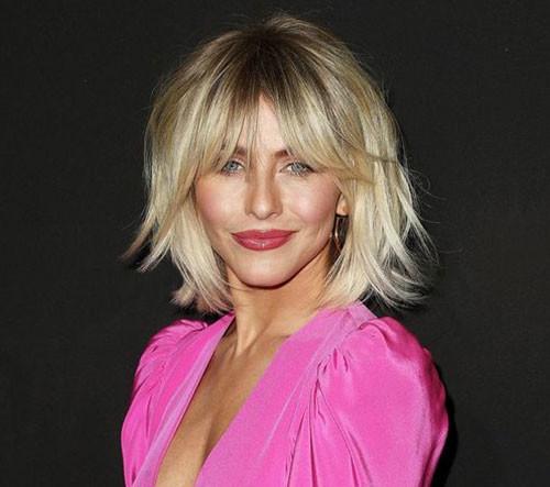 Choppy-Bob-with-Bangs Latest Short Haircuts for Women 2019