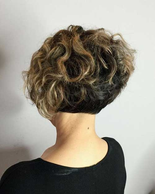 Curly-Short-Bob-Hairstyle Cute Curly Short Hairstyles for Ladies