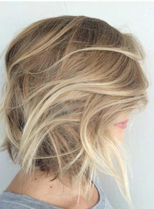 Cute-Blonde-Bob-Haircut-with-Ombre Beautiful Ombre Bob Hairstyles