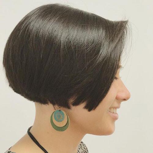 Dark-Brown-Short-Hair Haircut Styles for Short Hair