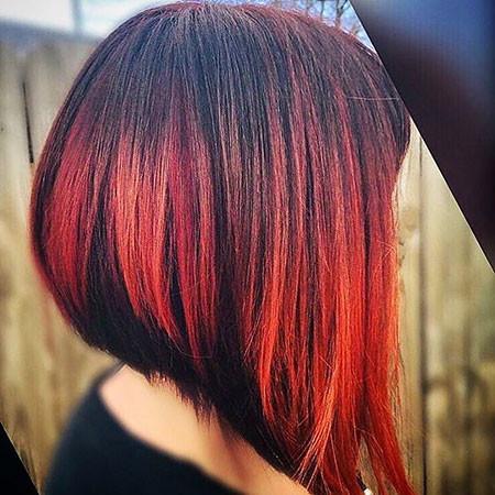 Dark-Red New Bob Hairstyles 2019