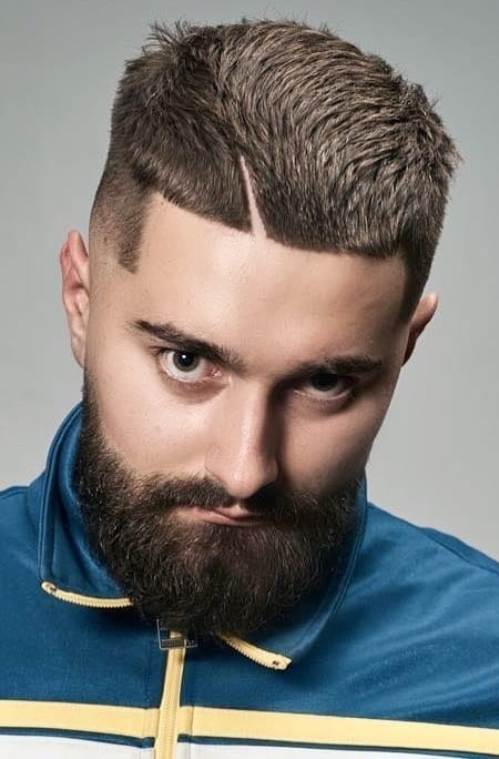 Devils-Cut Unique Haircut Designs for Men