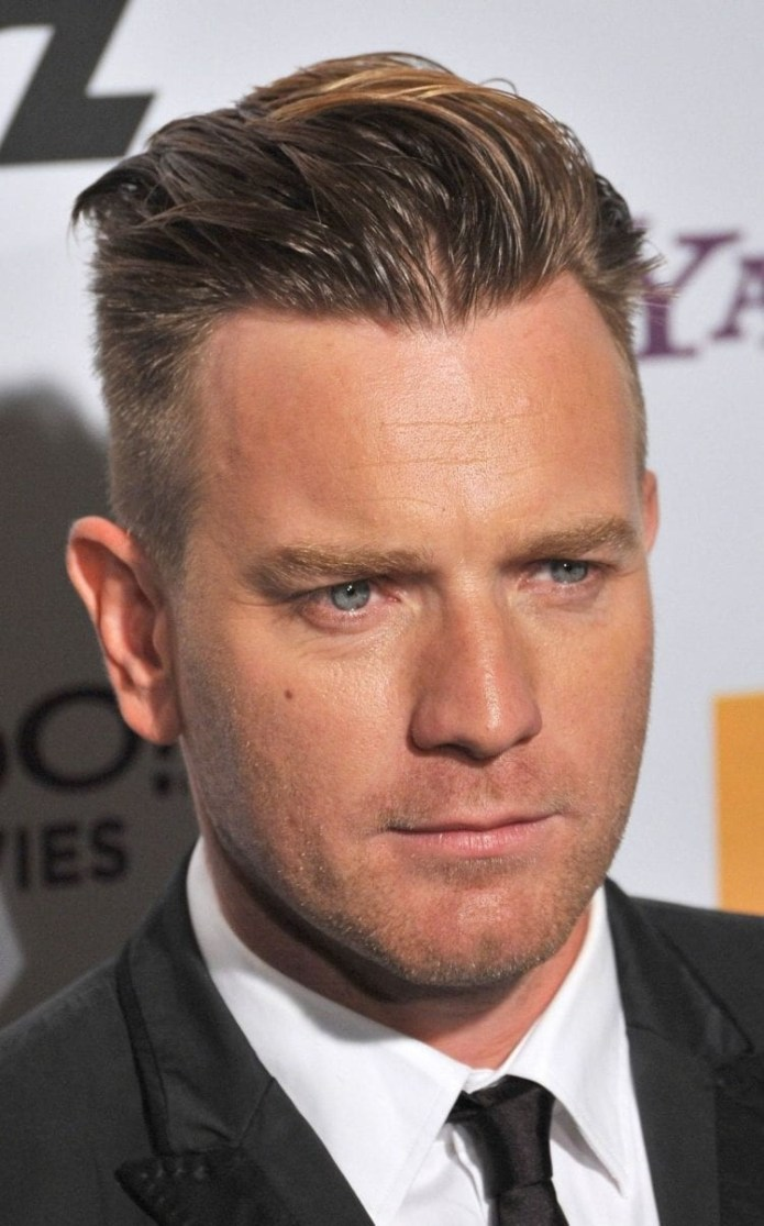 Ewan-McGregor-slicked-back-undercut Stylish Undercut Hairstyle Variations in 2019: A Complete Guide