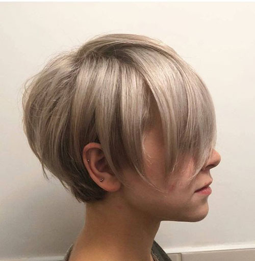Fine-Blonde-Hair Latest Short Haircuts for Women 2019
