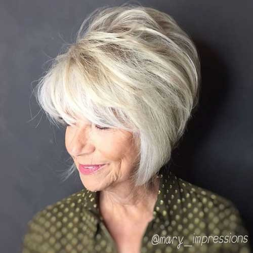 Flattering-Hair-Style Short Haircuts for Older Women 2019